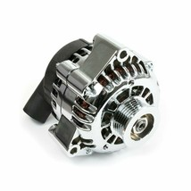 GM CS130D Style High Output 180 Amp Alternator For Chevrolet SBC V8 Chrome