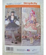 Simplicity Costumes Pattern 1300 14-22 Gothic Lolita Cosplay Witch Frill... - $10.99