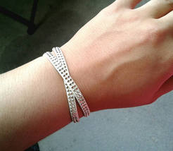 Double Wrapped Studded White Leather Bracelet Gold Studded Bracelet Gold... - $32.00
