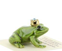 Birthstone Frog Prince March Simulated Aquamarine Miniatures by Hagen-Renaker image 5