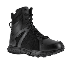 "Men's Reebok Work Trailgrip Tactical RB3455 8"" WP 200G Side Zip Boot Black Size - $202.60"