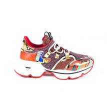 Christian Louboutin Red Runner Donna Glitter Sneakers SZ 38.5 - $740.00