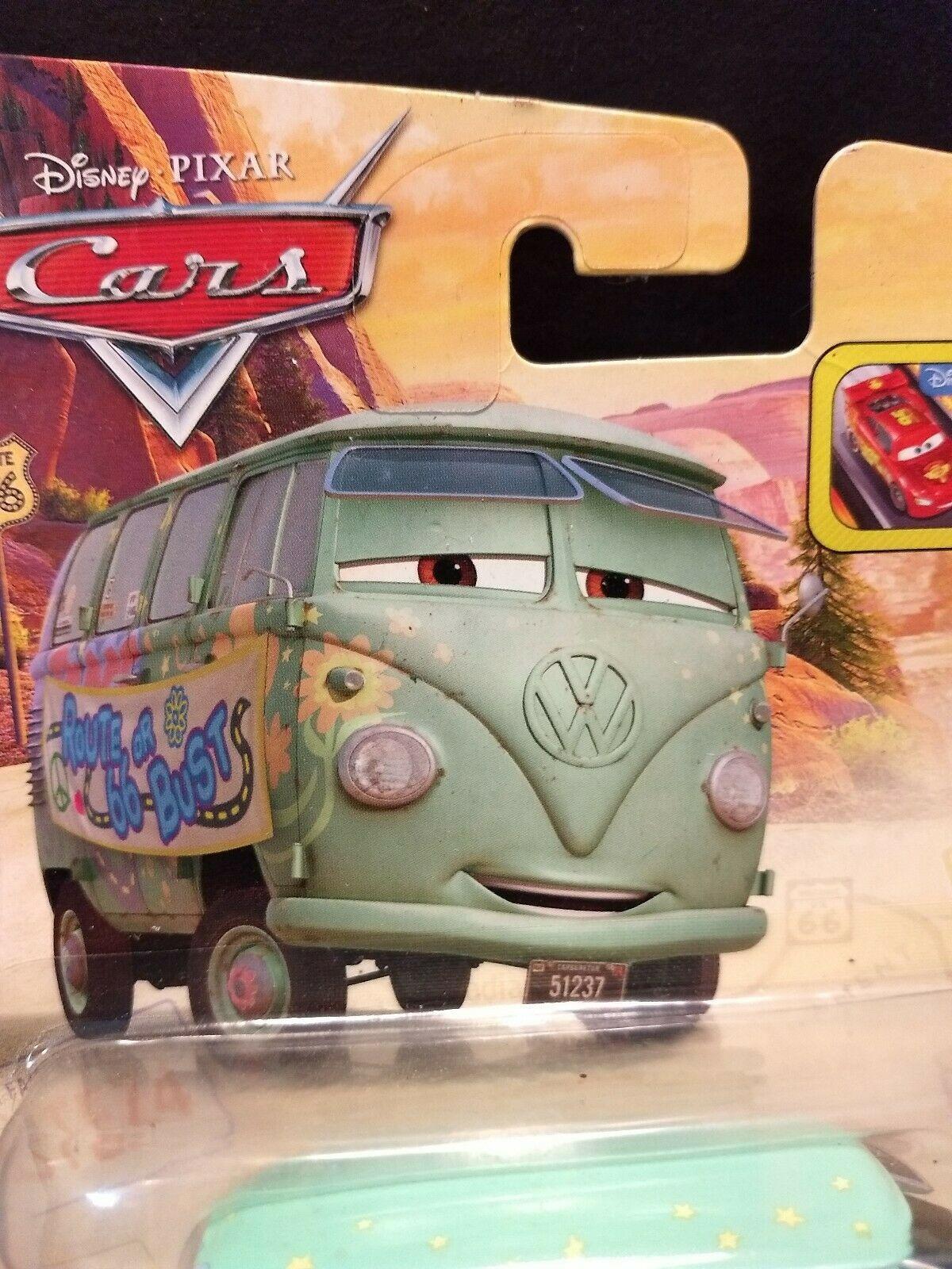 Sealed 2015 Mattel Pixar Disney Cars Fillmore Road Trip toy van Route 66 or Bust image 3