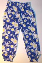 Disney Toddler Girls Floral Pants Blue White Yellow Size 3T VGUC - $12.60