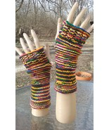 Distinctive Hand Knit Banded Fingerless Gloves (Select Your Color) - $25.00