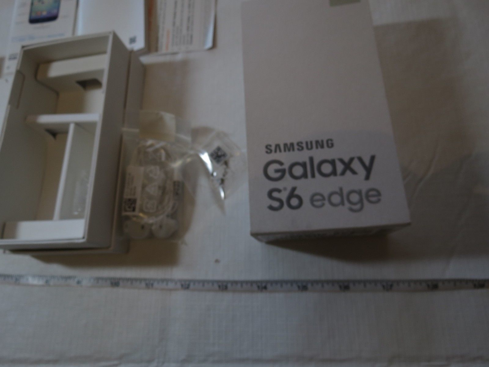 Samsung Galaxy S6 Edge 32GB BOX ONLY NO PHONE with new headphones booklets