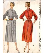1954 McCall's 9848 Shirt Dress Sewing Pattern - $5.95