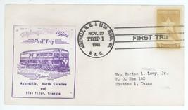 First Trip Highway Post Office 1948 Aheville NC & Blue Ridge GA Trip 1 H... - $2.99