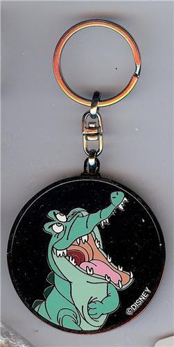 Disney Peter Pan the the Crocodile tic toc crock NYC 1999 metal key chain