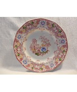 """Antique Francis Morley Red Polychrome Transfer Ware Cleopatra Plate 9 1/2"""" - $17.95"""