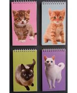 CAT NOTEBOOKS Set of 4 Kitten Animal Pet Note Pad 4x5 NEW - $9.99