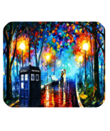Mouse Pad Doctor Who's Tardis Van Gogh Design In Beautiful Painting Anim... - $4.00