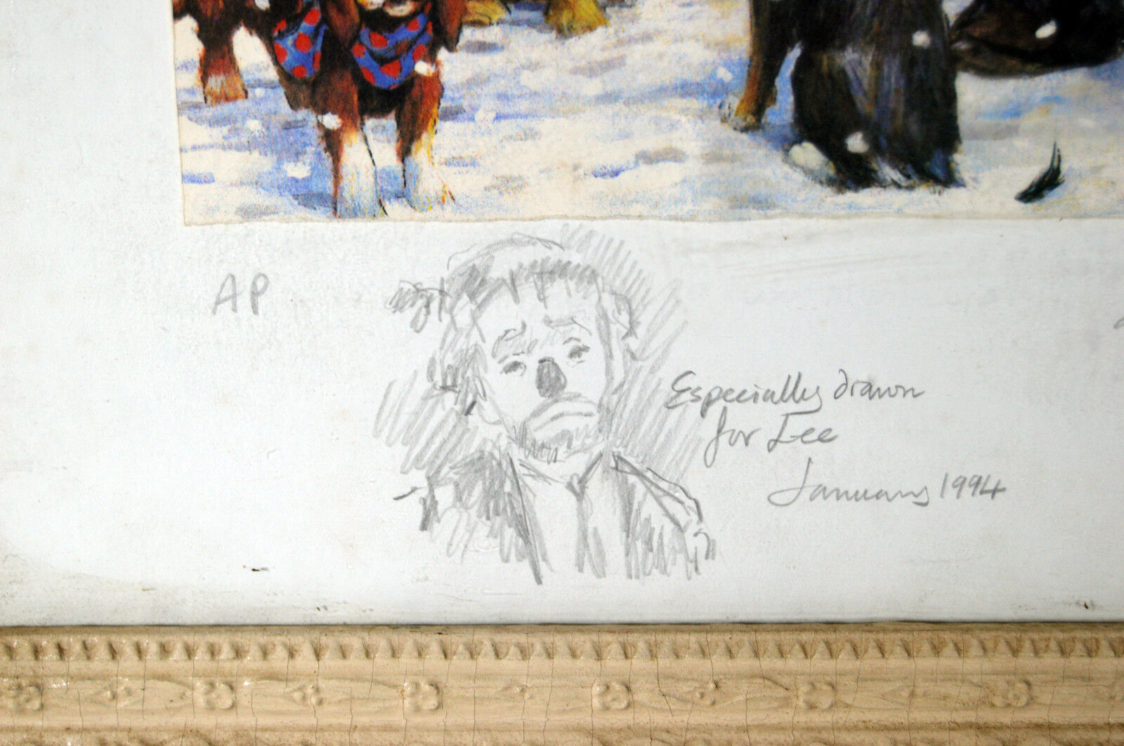 Unique Signed Artist Proof Leighton Jones Emmett Kelly Christmas Carol Scrooge image 6