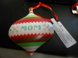 "Hallmark ""Mom"" Ornament NEW with Tag - $14.80"