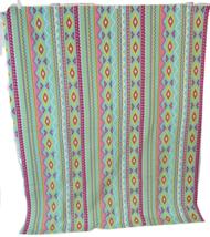 "Brother Sister Design Studio Fabric 36""l x 44""W Aztec Retro Vaporwave co... - $12.86"