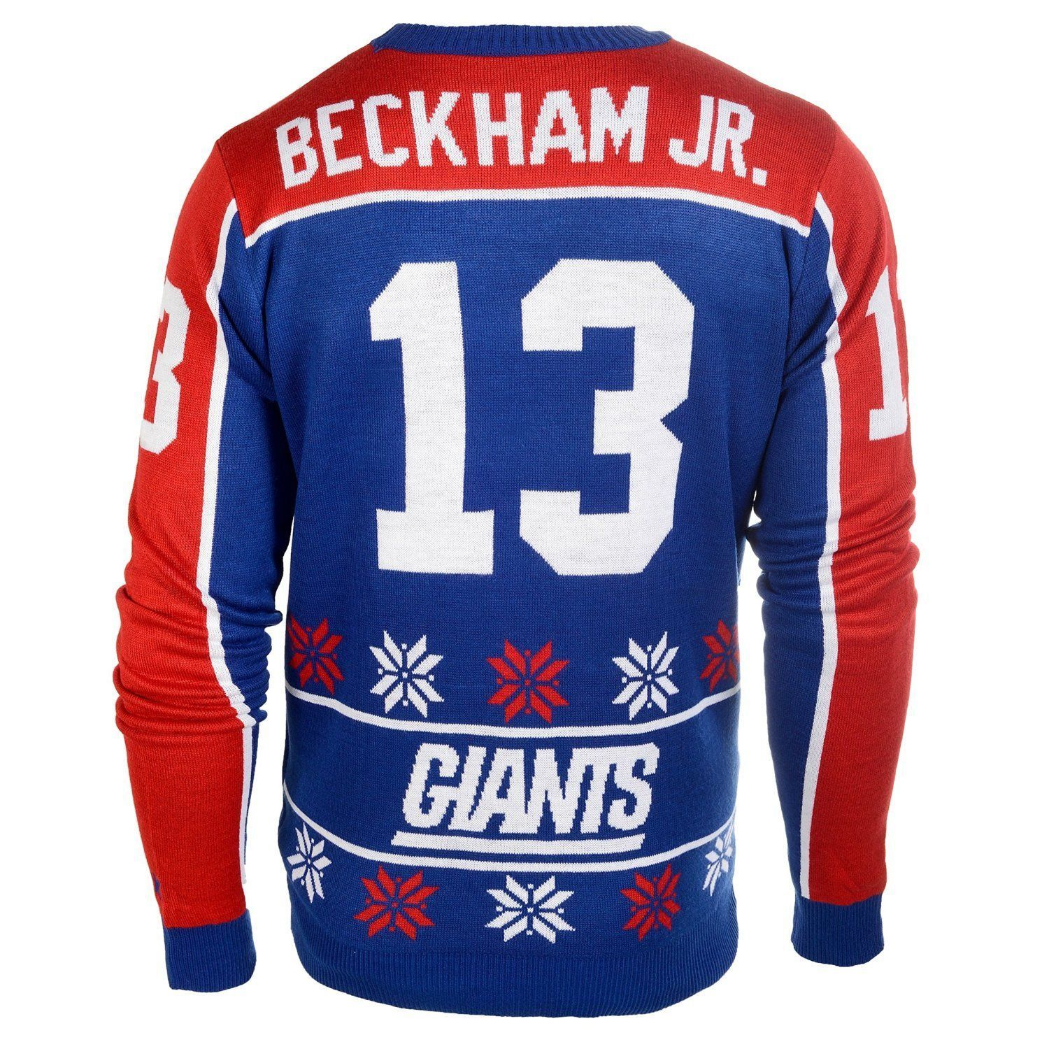 NFL Klew New York Giants Odell Beckham Jr. #13 Player Ugly Sweater