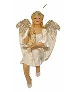 December Diamonds Luna Angel Christmas Ornament-Holding Moon & Handpaint... - $26.72