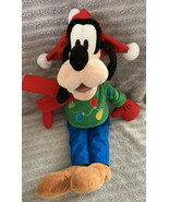 "Disney Store Plush Holiday Christmas Sweater Goofy Stuffed Animal 18"" - $15.83"