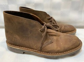 CLARKS Chukka Boots Ankle Desert Brown Suede Men's Size 8.5 M - $29.69