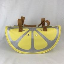 Betsey Johnson Lemon Wedge Beach Cooler Bag Insulated Silver Sparkle  - $48.62