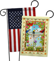 Bathing Birds Ivory - Impressions Decorative USA - Applique Garden Flags... - $30.97