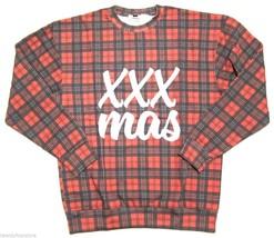 NWT Topman by Topshop XXX MAS Plaid Sweatshirt Ugly Christmas Sweater sz S - $20.78