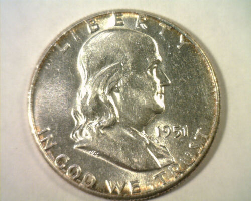 Primary image for 1951 FRANKLIN HALF DOLLAR CHOICE ABOUT UNCIRCULATED CH. AU NICE ORIGINAL COIN