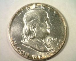 1951 FRANKLIN HALF DOLLAR CHOICE ABOUT UNCIRCULATED CH. AU NICE ORIGINAL... - $15.00