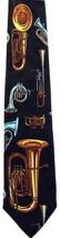 Tuba & Horns Mens Music Neck Tie Musical Instrument Musician Black Neck Tie - $16.95