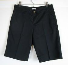 Dockers Black Bermuda Shorts Size 6 Cotton Blend Walking Shorts - $9.50