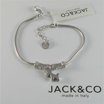 Silver Bracelet 925 Jack&co with Star Dog Butterfly Four-Leaf Clover or Cat image 5