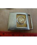 Lee Jeans New York Ny Messing Gürtelschnalle Löwe Design Vintage Emailli... - $14.85