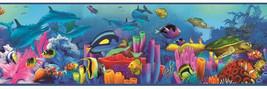 Ocean Underwater Garden & Sea Life Chesapeake Wallcovering BBC46351B - $20.99