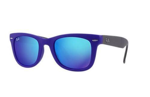 06b0ee1086419 Ray Ban Folding Wayfarer RB4105 6020 17 Blue and 50 similar items