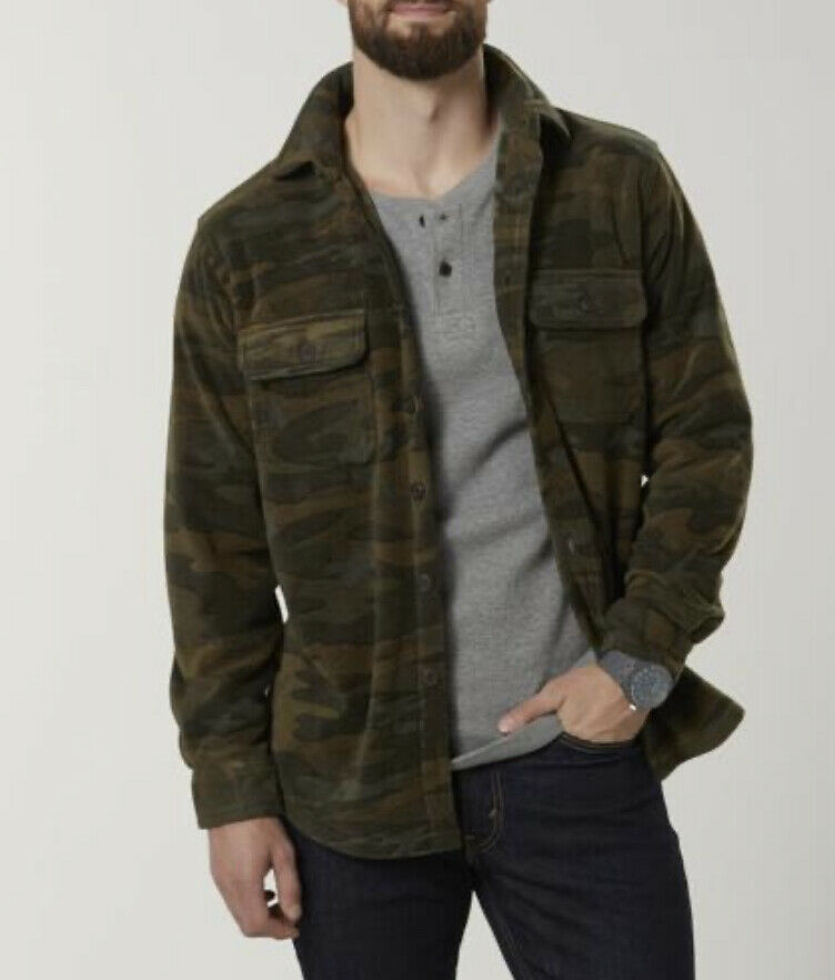 Primary image for Large Color Rosin Ever Last Men's Fleece Shirt Jacket - Plaid