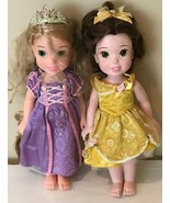 Disney My First Princess Lot of 2 Dolls Rapunzel and Belle Dolls with Cl... - $21.99
