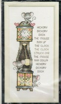 Janlynn Counted Cross Stitch Kit Nursery Rhyme Hickory Dickory Dock Mous... - $19.54