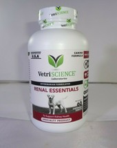 Vetriscience Renal Essentials Kidney Health Support For Dogs 60ct - $27.23
