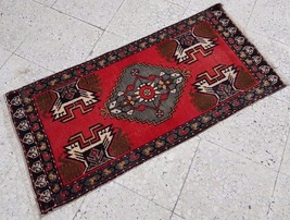 Hand Knotted Semi Antique Persian Kurdish Wool Rug LOWEST PRICE 1.7 X 3.... - $68.31