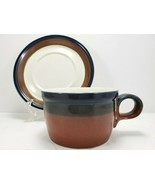 Mikasa Fire Song Cup and Saucer 8 oz Stoneware Potters Art PF003 - $8.91