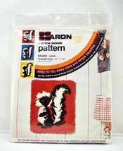 "Vintage New Old Stock Skunk Latch Hook Canvas Pattern 12"" x 15"" - $28.45"