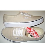 Vans Mens Authentic Silver Lining True White Canvas Skate Boat shoes Siz... - $49.49