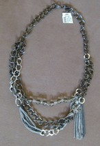 """Talbots Retro Look Multi Chain & Glass Bead Necklace 18"""" Nwt - $29.85"""