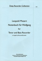 """Music book for W.A. Mozart "" by Leopold Mozart, for Tenor and Bass Reco... - $13.35"