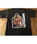BATISTA THE ANIMAL BLACK T SHIRT WWE OFFICIAL SHIRT UNISEX  Large - $14.24