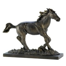 Horses Statue, Decorative Bronze Rustic Race Horse Sculpture And Figurines - $31.99