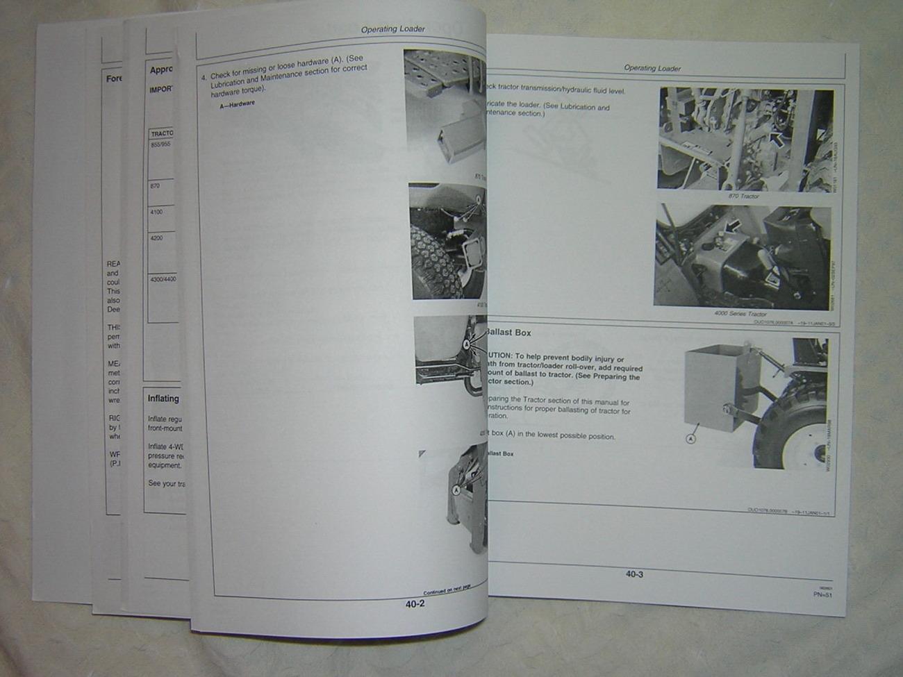 John Deere 410 (Serial No. 8802-) and 420 (Serial No. 13055-) Loaders Operator