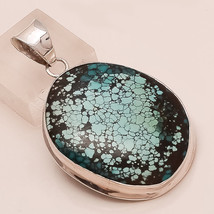 Natural Persian Turquoise Gemstone 925 Sterling Silver Pendant Men's Jewelry New - $30.91