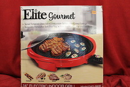 Elite Gourmet EMG-980R 14 In. Cool Touch Indoor Grill Vented Glass Lid, ... - $45.31
