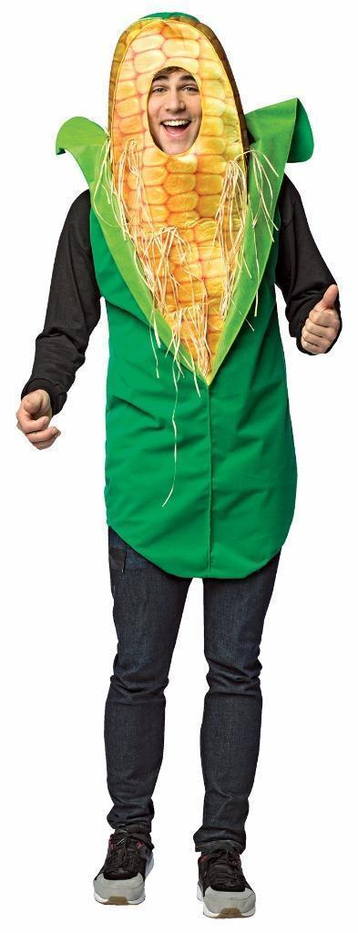 Corn On The Cob Adult Costume Food Vegetable Halloween Party Unique Cheap GC6951